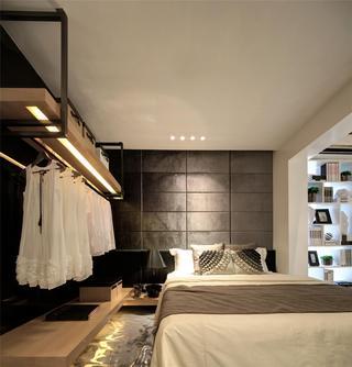 黑白灰现代简约三居卧室装修效果图