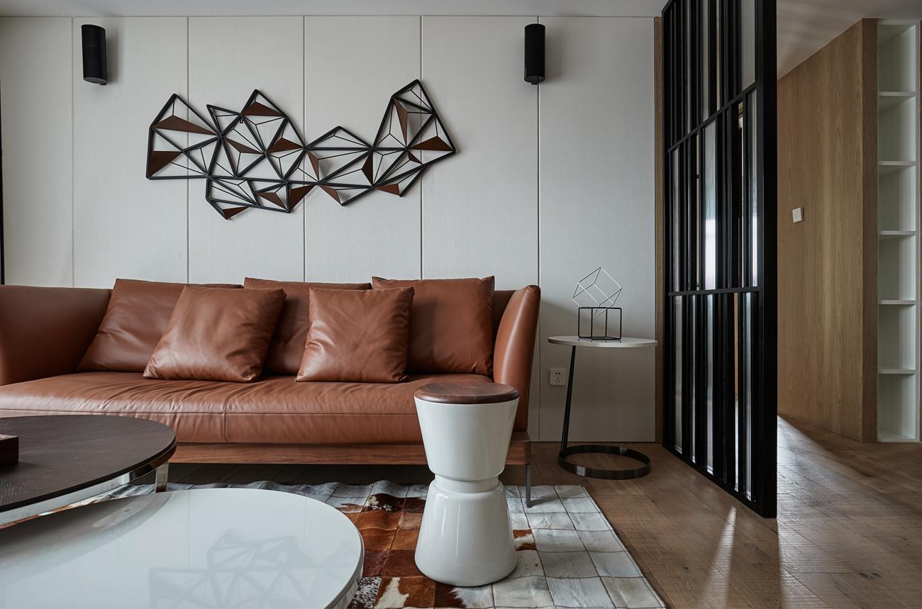 125㎡现代混搭风格沙发背景墙装修效果图
