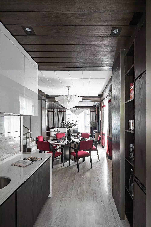 新中式风格别墅厨房装修效果图