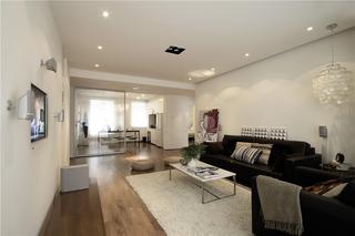白色简约风三居客厅装修效果图