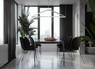 现代简约风格公寓餐厅装修设计图