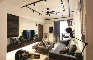 二居室工业风格客厅装修效果图