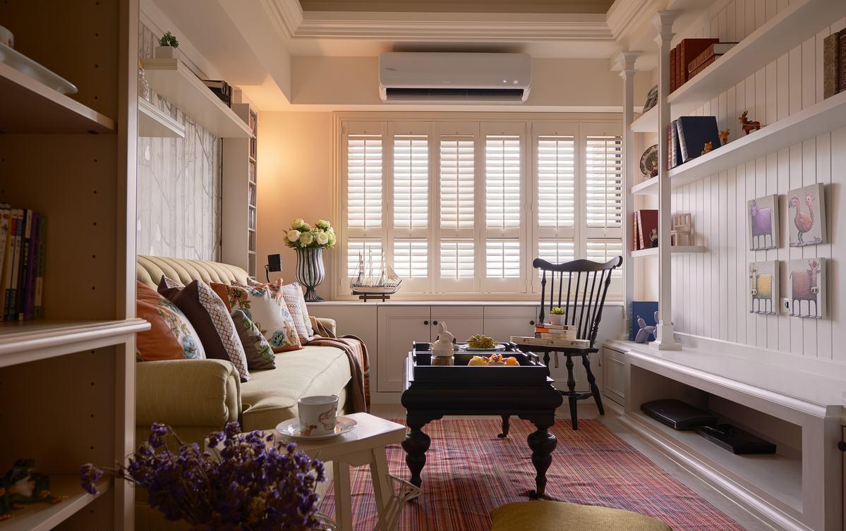 72平现代田园风格客厅装修效果图
