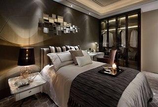 时尚现代样板房卧室装修效果图