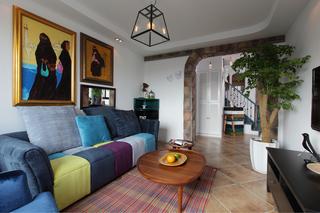 混搭风格二居客厅装修效果图