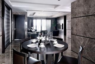 现代简约黑白灰餐厅装修效果图