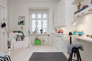 118平米白色公寓儿童房装修效果图