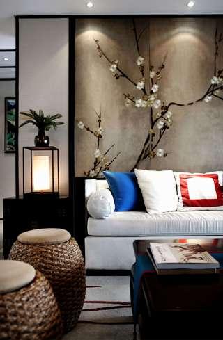 新中式风格样板间装修沙发搭配图