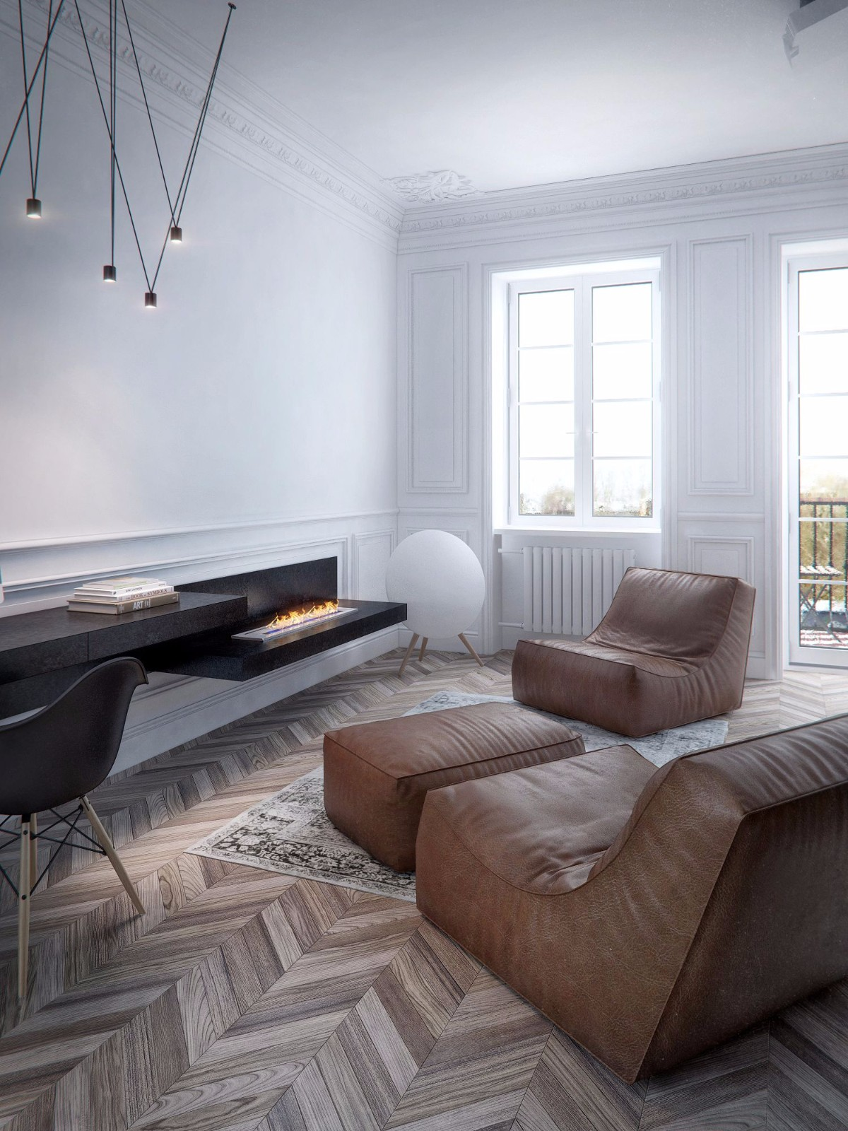一居室简约风公寓客厅装修效果图