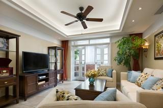 温馨美式风格三居客厅装修效果图