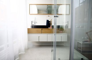 100㎡简约现代公寓卫生间装修效果图