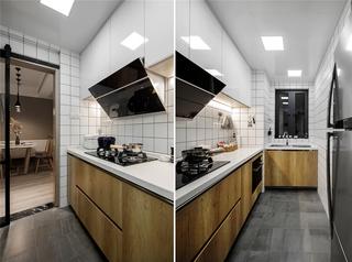 现代简约风二居室厨房装修设计图