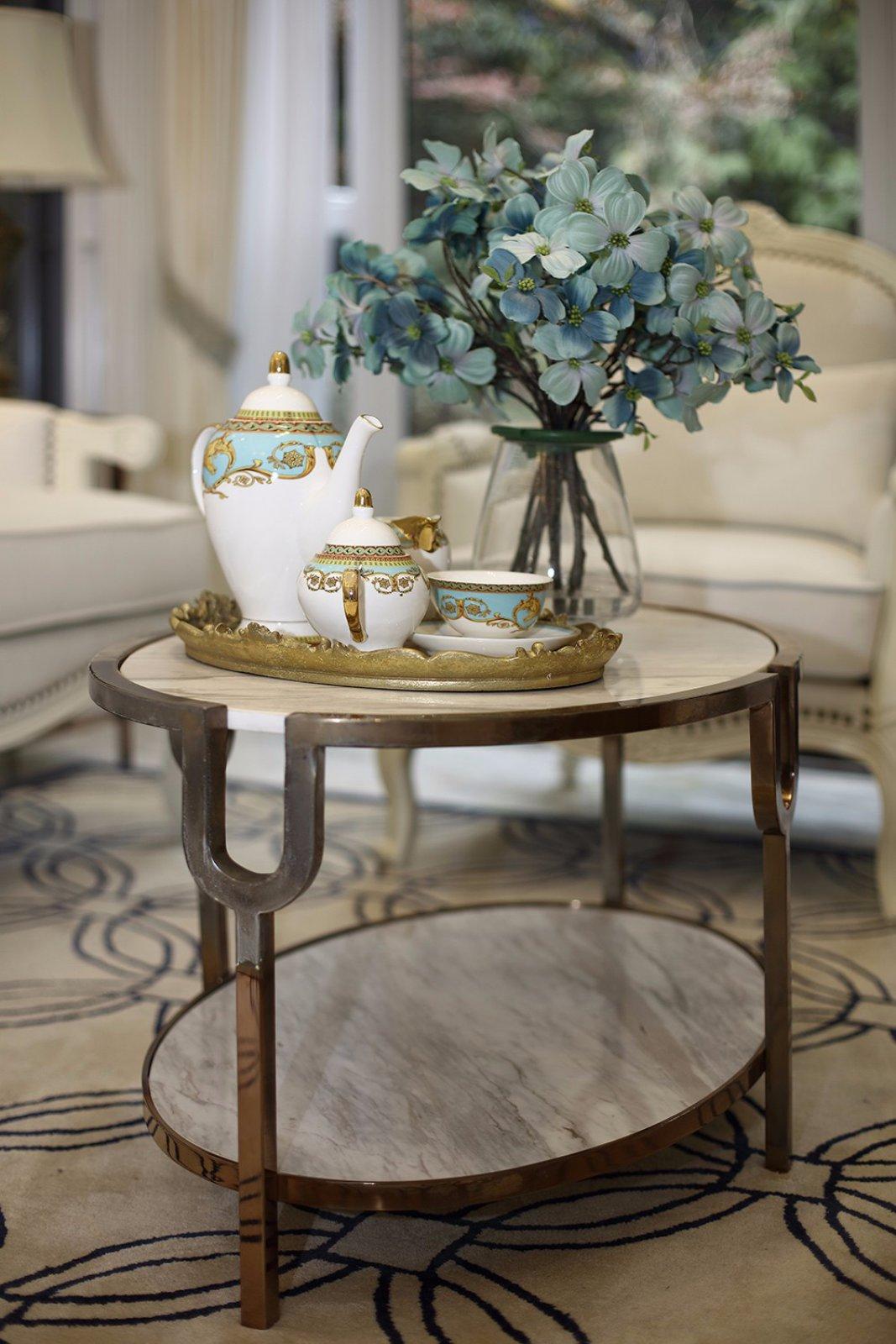 欧美风格三居室装修茶几特写