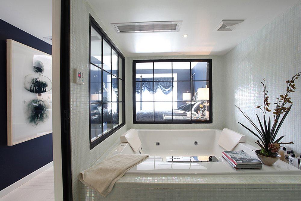 大户型后现代混搭浴缸装修效果图