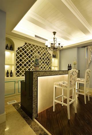 地中海风格别墅吧台装修设计图