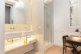北欧混搭风格三居洗手台装修设计图
