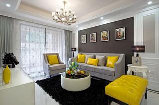 大户型欧式风格沙发背景墙装修设计图