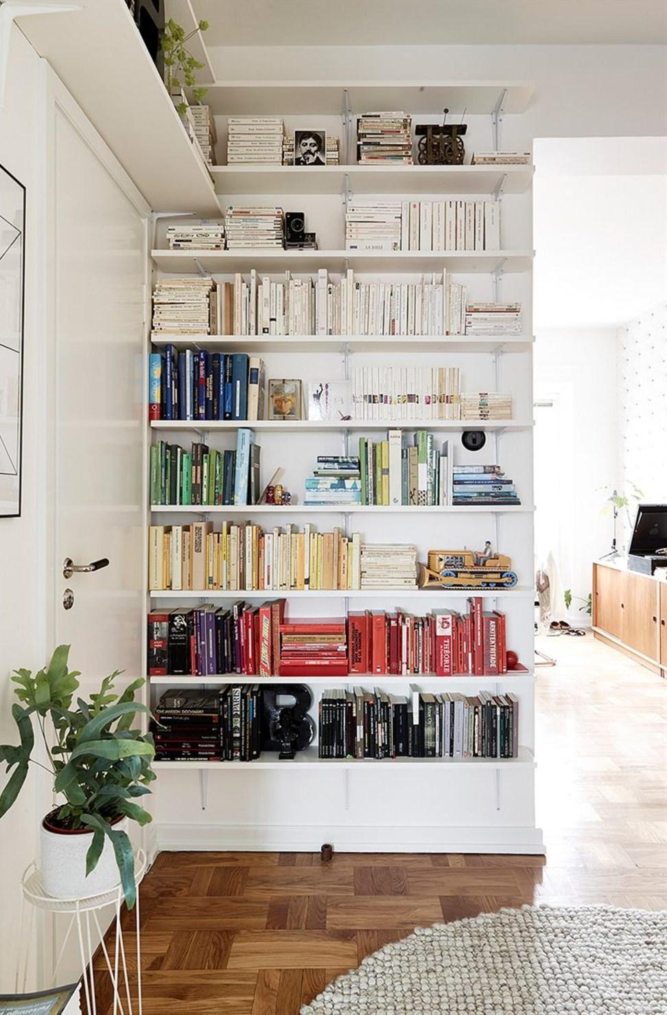 小户型北欧风格公寓书架装修效果图