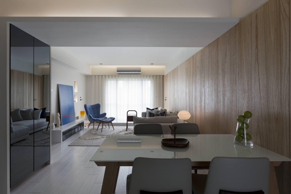 76平米现代风格客餐厅装修效果图