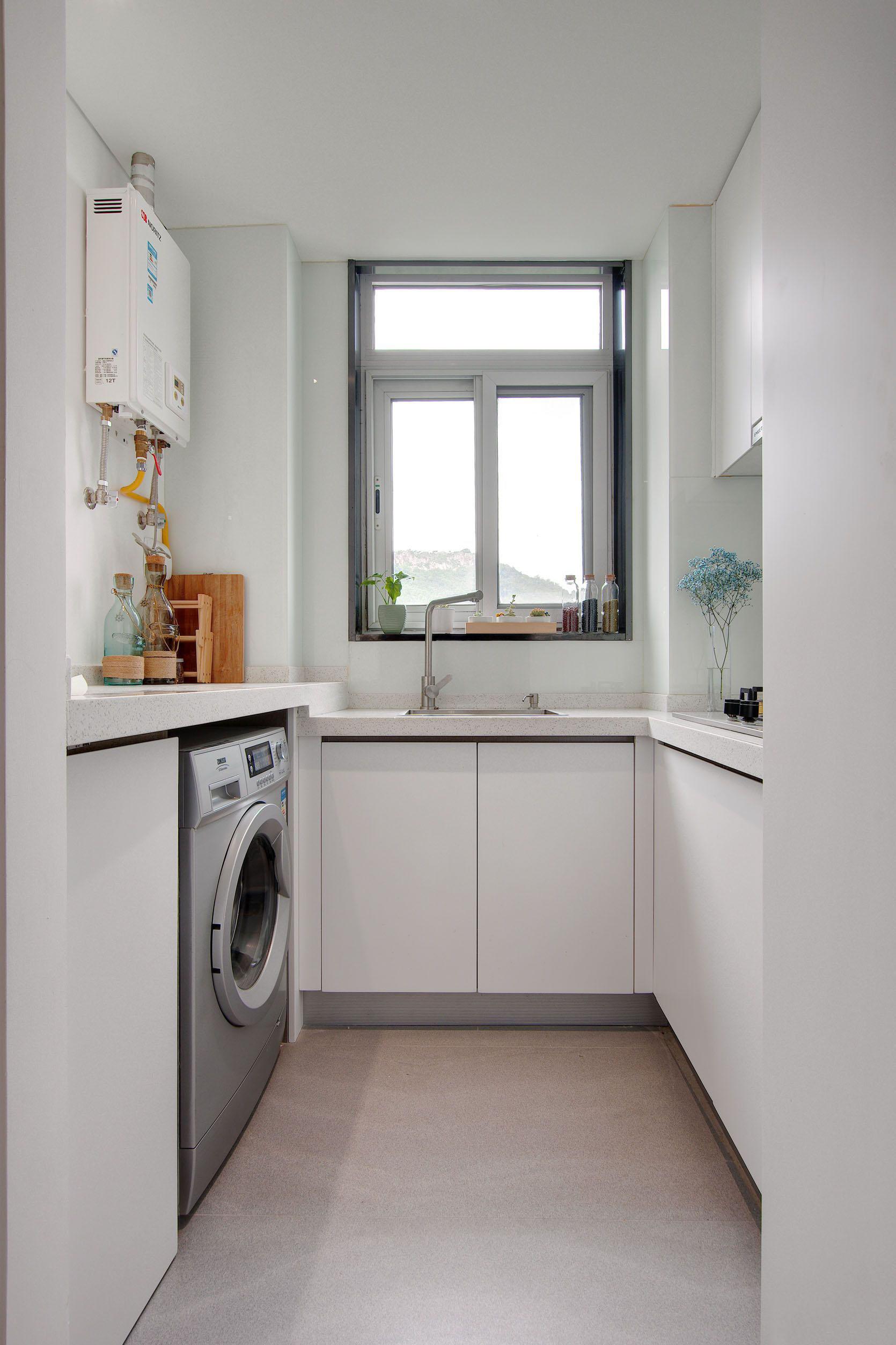 40㎡简约单身公寓厨房装修效果图