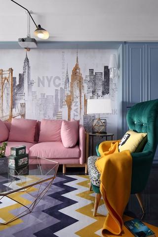 北欧混搭风格装修沙发搭配图