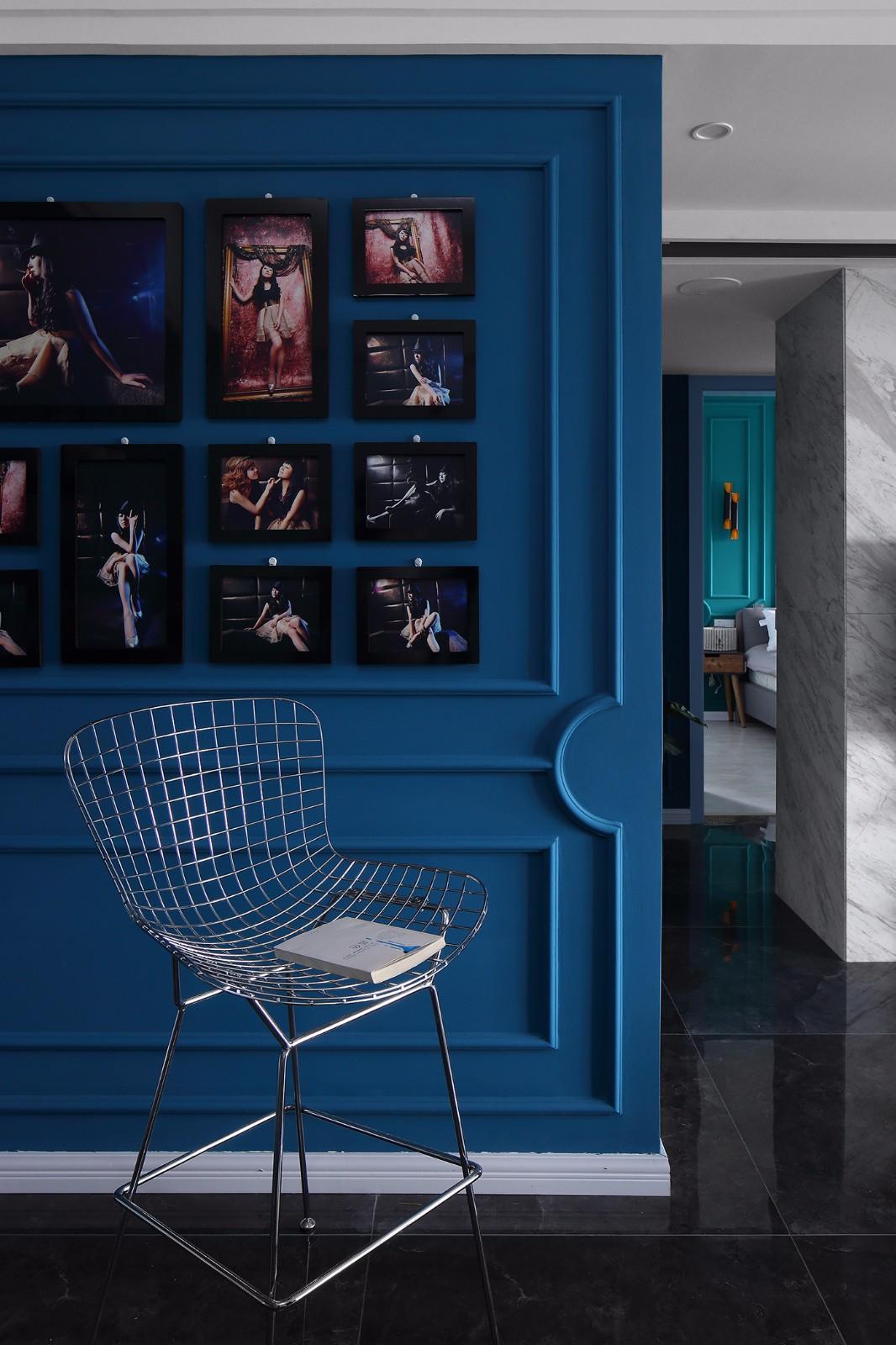 北欧混搭风格照片墙装修效果图
