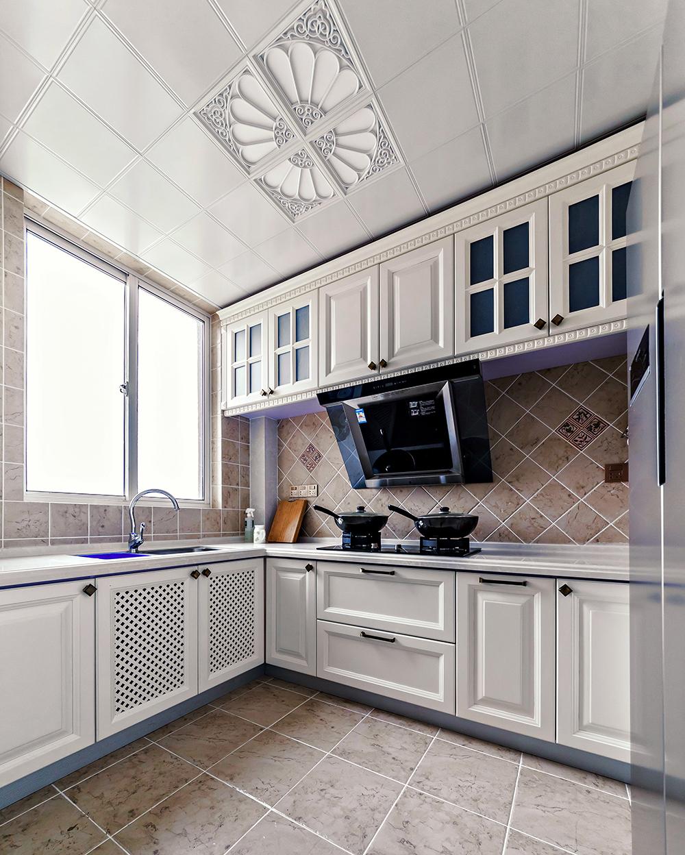 134㎡美式风格厨房装修效果图