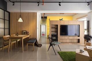 92平米工业风格电视背景墙装修效果图