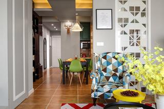 混搭风格三居室客餐厅隔断装修效果图