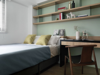 90㎡现代简约卧室装修效果图
