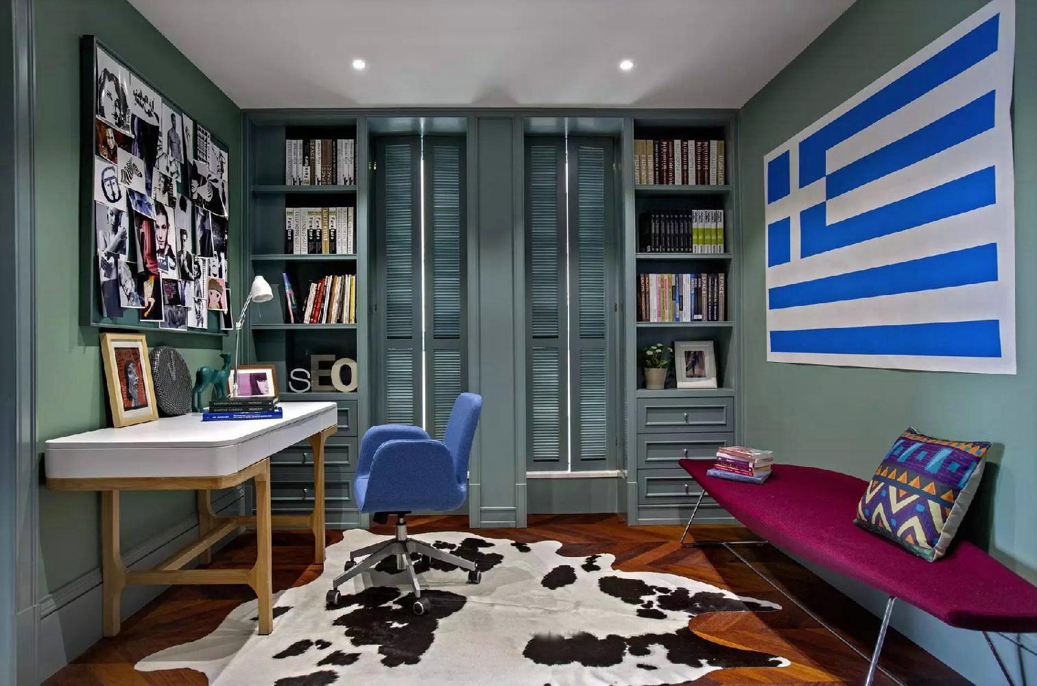 混搭风格四居书房装修效果图