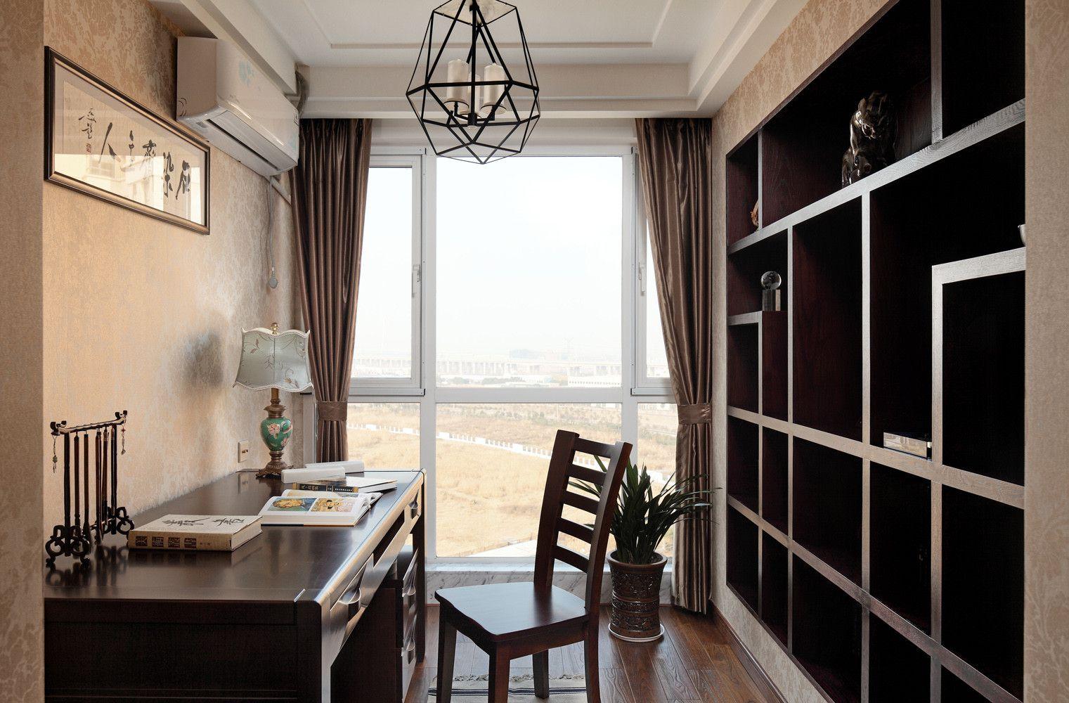新中式风格三居书房装修设计图