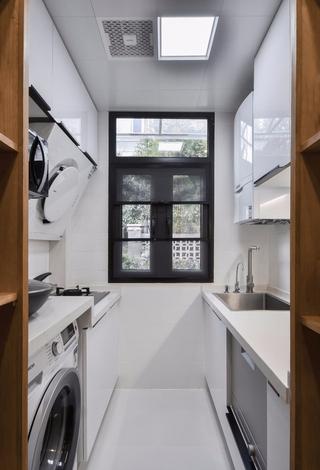 小户型白色简约厨房装修效果图