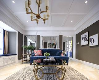 120㎡美式风格三居装修设计图