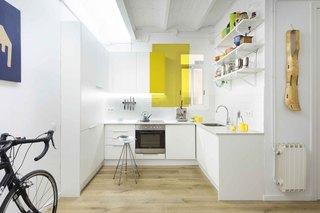 70㎡简约风格公寓厨房装修效果图