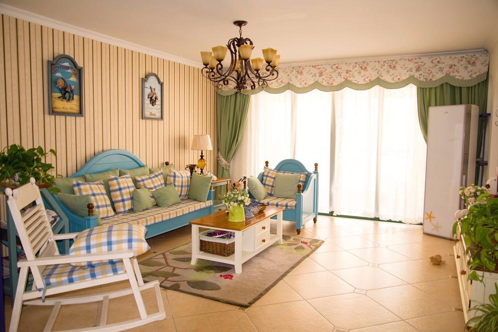 120平米地中海风格客厅装修效果图