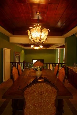 東南亞風格別墅餐廳裝修效果圖