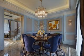 奢华新古典风格别墅餐厅装修效果图