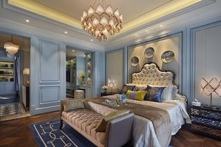 奢华新古典风格别墅卧室装修效果图