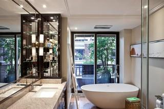 现代中式混搭别墅卫生间装修效果图