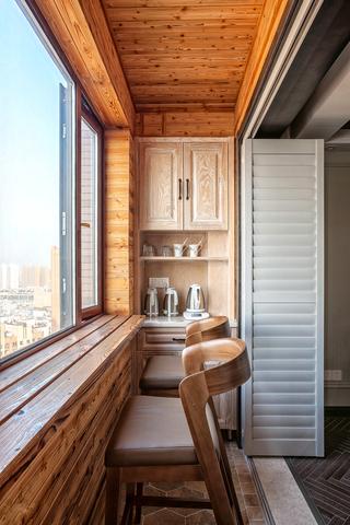140平米美式三居室阳台吧台装修效果图