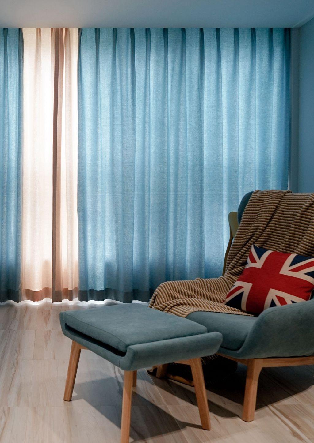 93平北欧风三居装修窗帘设计图