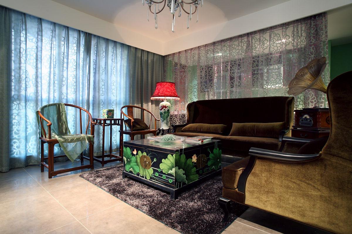 新中式古典风格客厅装修效果图
