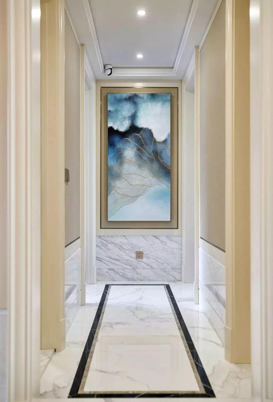 150㎡现代美式风格走廊装修效果图