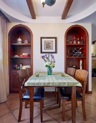 三居室美式乡村风格餐厅装修效果图