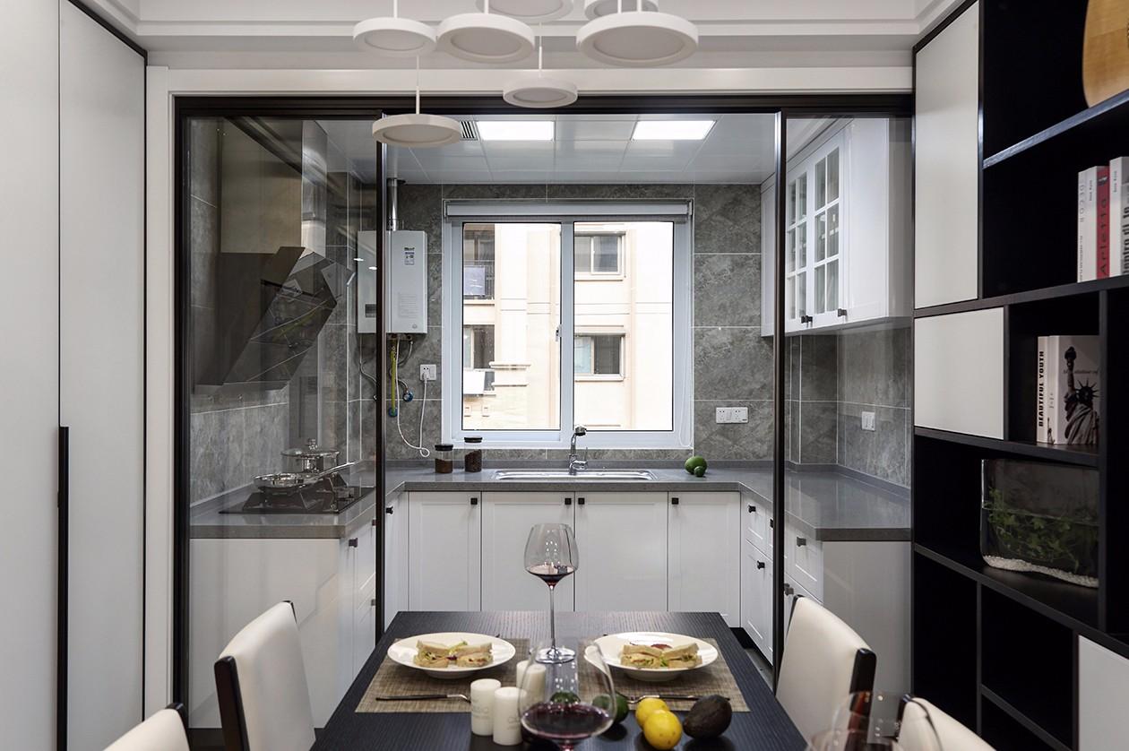 130㎡现代简约厨房装修效果图