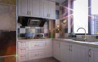 三居室简约美式厨房装修效果图