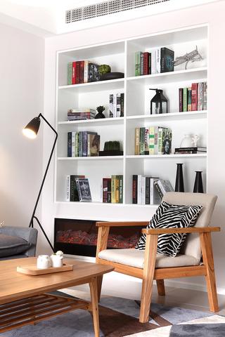 125㎡北欧风格书柜装修效果图
