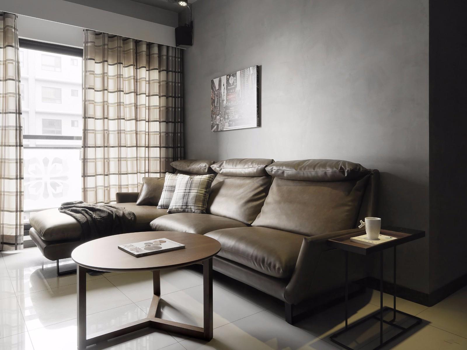 LOFT工业风三居沙发背景墙装修效果图