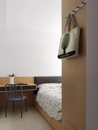 LOFT工业风三居卧室装修设计图